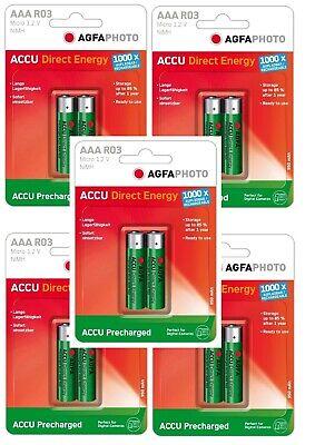 Aus Dem Ausland Importiert 5 X 2er Agfaphoto Akku Aaa Akku 950mah Micro 1.2v Ni-mh Digital Camera Phone Attraktive Designs;