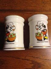 Vintage Mickey Mouse Walt Disney Productions Salt And Pepper Shakers Approx. 3""