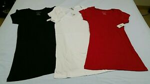 3-Ladies-solid-T-shirts-size-large