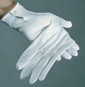 Weisse-Handschuhe-mit-Knopf-amp-Biesen-Garde-Gardehandschuhe-Chauffeur-Pantomime