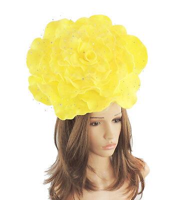 Ladies Large Sinamay Ascot kentucky Derby Fascinator Hat Headband G6