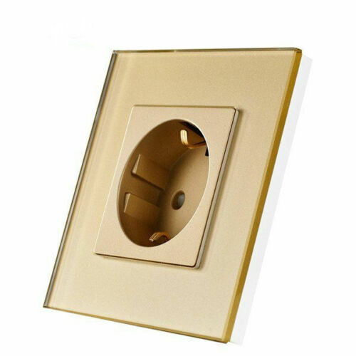 Glas Touchscreen Steckdose in Gold Kristall