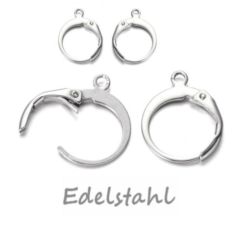 Edelstahl-Ohrringe Brisuren Ø 14mm  ab 0,99€//Paar Sofortversand bis 13:30UHR