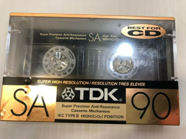 TDK SA90 Super Avilyn Cassette, Made in Japan // NEW