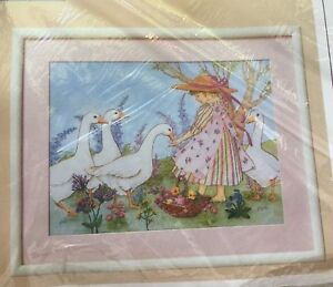 Creative-Circle-0347-Kit-Feathered-Friends-Counted-Cross-Stitch-12x16-1988-Vtg