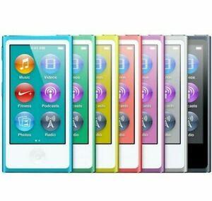 Apple-iPod-Nano-7th-8th-Generation-16GB-Gold-Blue-Silver-Gray-Black-Purple-Pink