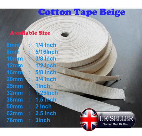 Blanc naturel//beige coton sangle bunting herringbone tablier ruban bordure bordure
