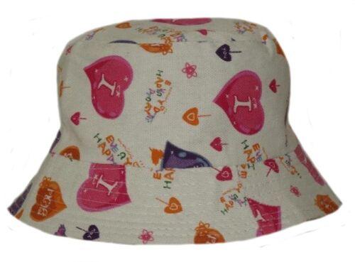 GIRL/'S SUN//SUMMER BUSH//BUCKET HAT IN VARIOUS DESIGNS 48CM OR 52CM GREAT VALUE!