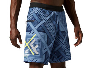 Reebok-CrossFit-Super-Nasty-Speed-Shorts-Mens-Wicking-Blue-Gym-Training-Sport