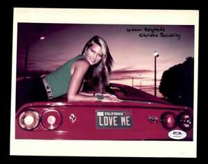Christie Brinkley PSA DNA Coa Signed 8x10 Vacation Photo Certified Autograph