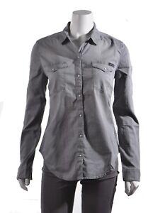 1a8ac80037c Calvin Klein Jeans Womens Grey Western Button-Down Long Sleeve Light ...