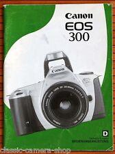 Kamera Bedienungsanleitung CANON EOS 300 User Manual Anleitung (X2815
