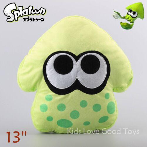 Green Splatoon Squid Plush Cushion Pillow Plushie Soft Doll Toy 13/'/' Teddy