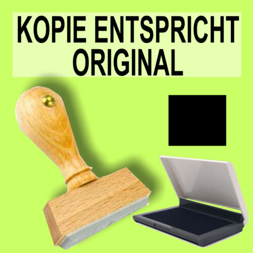 S1F Schwarz Holzstempel 10 x 35mm Büro Stempel KOPIE ENTSPRICHT ORIGINAL