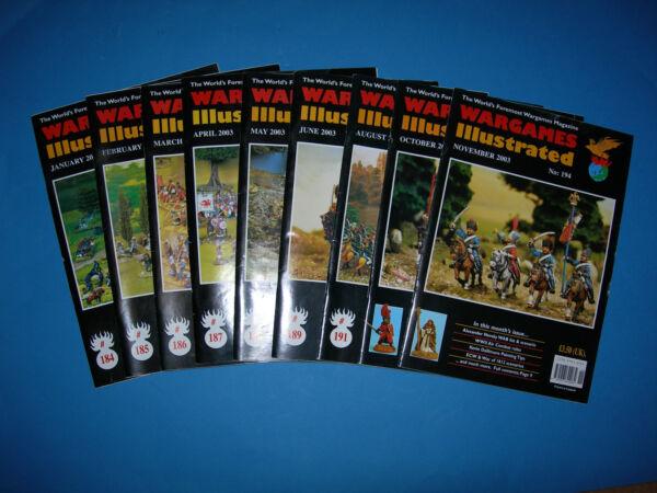 Espressive Multi-listing Wargames Illustrated Magazine 2003-questioni 184 A 194