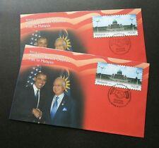 President Barack Obama Visit Malaysia 2014 FDC (Commemorative Cover pair) *error