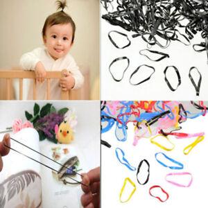 Rubber-400pcs-Hairband-Rope-Ponytail-Holder-Elastic-Hair-Band-Ties-Braids-Plaits