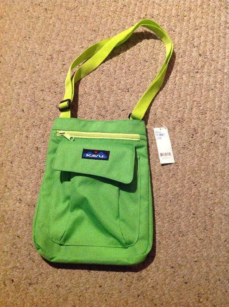 New Kavu For Keeps Lime Shoulder Bag.