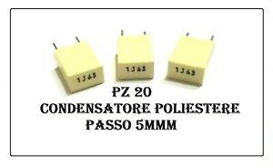 FNL 10 x Condensatore Pellicola Pet 1UF 63 V radiale-B32529C0105J289