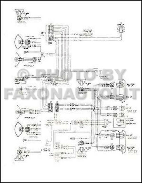 1980 Camaro Foldout Wiring Diagram Original 80 Berlinetta