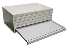 DIN-AO Zeichnungsschrank 5 Schübe | Grafikschrank | Papierschrank RAL 7035 GRAU