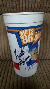 KEITH HERNANDEZ & BOB OJEDA SIGNED NEW YORK METS CUP 1986 CHAMPS MCDONALD'S