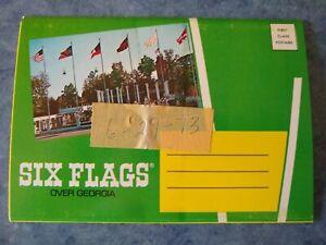 6-29-73-Six-Flags-Over-Georgia-CHEVY-SHOW-ROLLER-COASTER-MINT-5x7-Souvenir-Album
