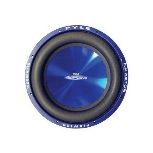 Car Subwoofer Blue Wave 8-Inch 600-Watt High Powered Vehicle Speaker Dual Voice