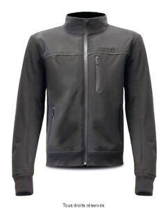 Blouson-Moto-Tissu-DESIGN-Urbain-Softshell-S-Line-Noir