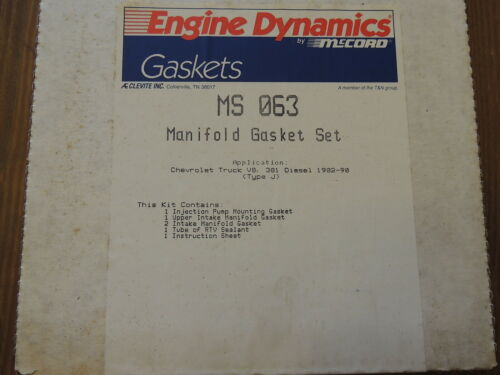 McCord Engine Dynamics MS063 Intake Gasket Set For Chevy Truck 381 V8 DIESEL