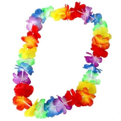 1 x Hawaiian Fancy Dress Lei Necklace 60 Flowers Party Supply Accessories