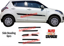 Premium Quality Black Side Beading for Maruti Suzuki Swift-Set of 6