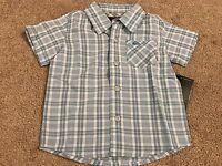 Quiksilver barclays Infant Boys Button Down Pocket Dress Shirt 12 Mo.