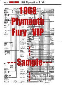 1968 Plymouth Fury VIP Full Car Wiring Diagram *High ...