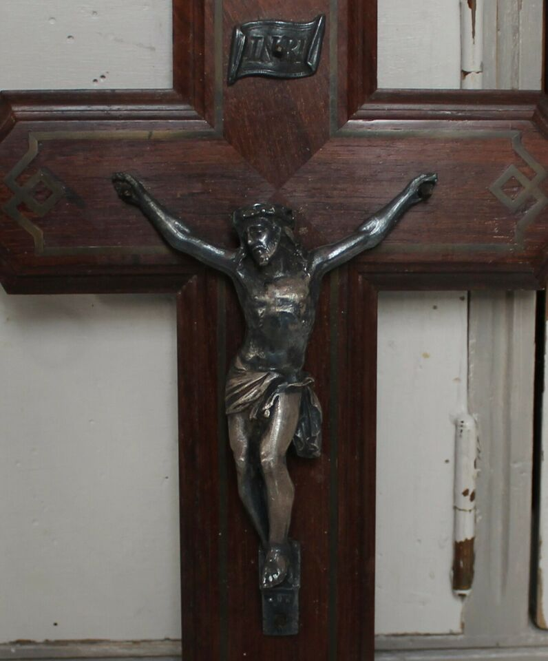 Gammelt fransk kors - krucifiks, Fransk antik - religiøse