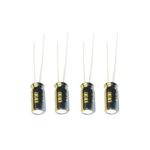 UKW2AR47MDD 4x Nichicon KW 0,47uF 100V condensatore elettrolitico radiale