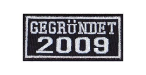 Gegründet 2009 Biker Patches Aufnäher Jahr Since MC Motorrad Rocker Kutte Club