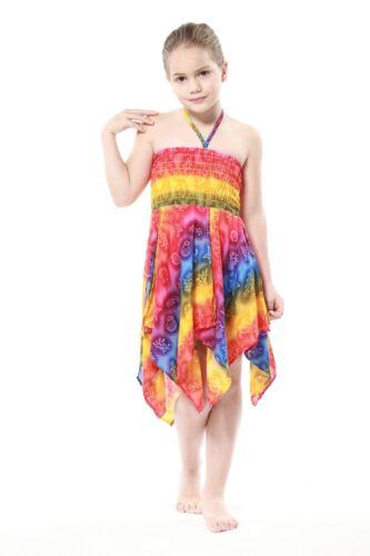 Girl Luau Dress Gypsy Aloha Summer Beach Hawaiian Cruise Rainbow Sea Turtle