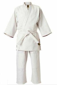 Judoanzug Weiss | Deluxe | 500g/m² | Judo Anzug komplett | Gr. von 110 - 200