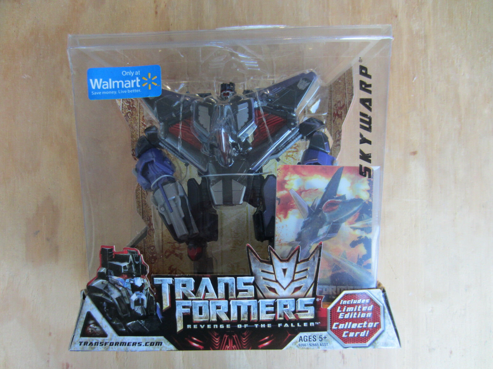 Transformers 2008 movie redF Decepticon Skywarp Walmart Excl+Collector Card new