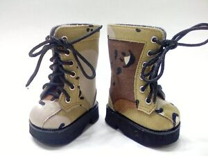 Doll-Clothes-18-034-Boots-Desert-Camouflage-Fits-American-Girl-Dolls