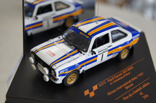 Ford Escort RS 1800 winner Mintex rally 1981 #1 1:43 vitesse nuevo /& OVP