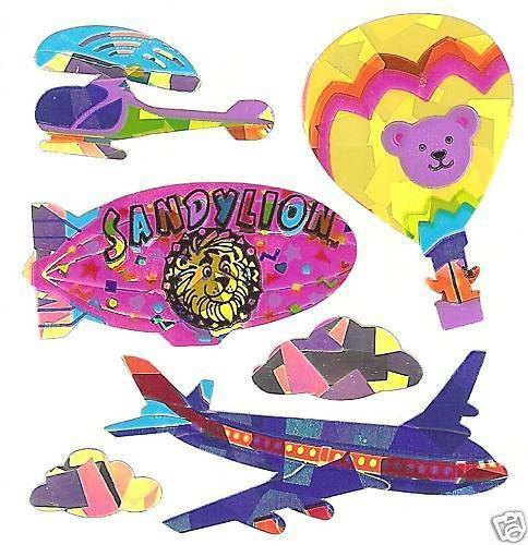 Sandylion Vintage 80/'s Prismatic Hot Air Balloon Stickers 1 Square RETIRED