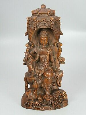 pure hand carved exquisite China/'s ancient natural boxwood carvings