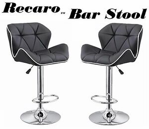 Astonishing Details About Recaro Modern Adjustable Height Swivel Bar Stool Set Of 2 Machost Co Dining Chair Design Ideas Machostcouk