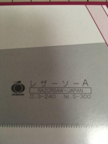 GYOKUCHO Japanese Razor Saw 240 mm Dozuki doutsuki Rechange Lame 16.9TPI Japan s300