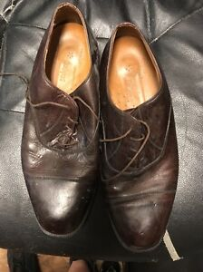 rockport men's brown leather oxford lace up casual dress