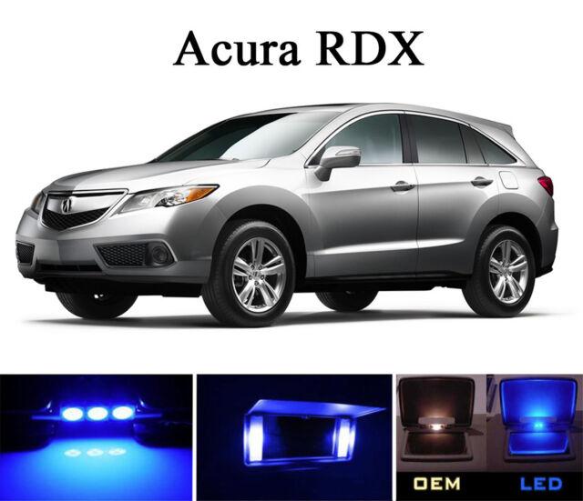 Ultra Blue Vanity / Sun Visor LED Light Bulbs For Acura