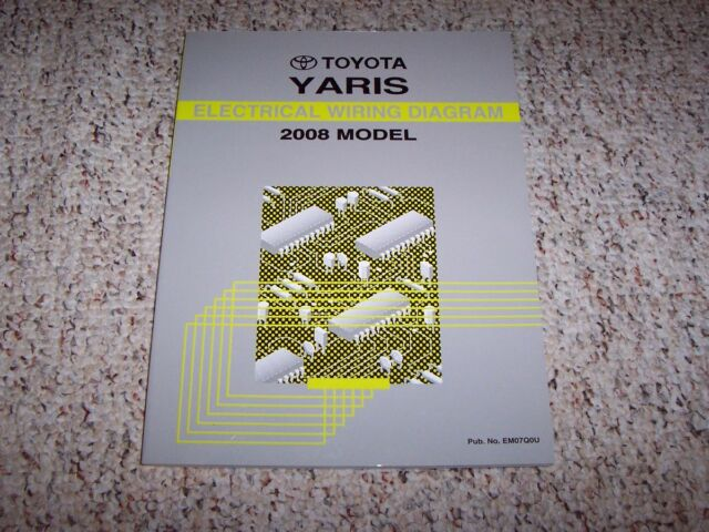 2008 Toyota Yaris Electrical Wiring Diagram Manual Book S