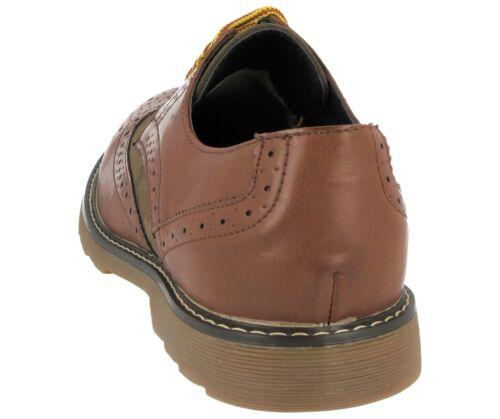 Homme Cuir Synthétique Smart Bureau OXFORD RICHELIEU à Mocassin Lacets Semelle Épaisse Chaussures